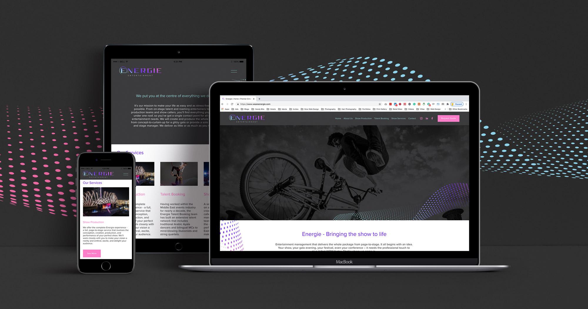 energie-entertainment-website-design