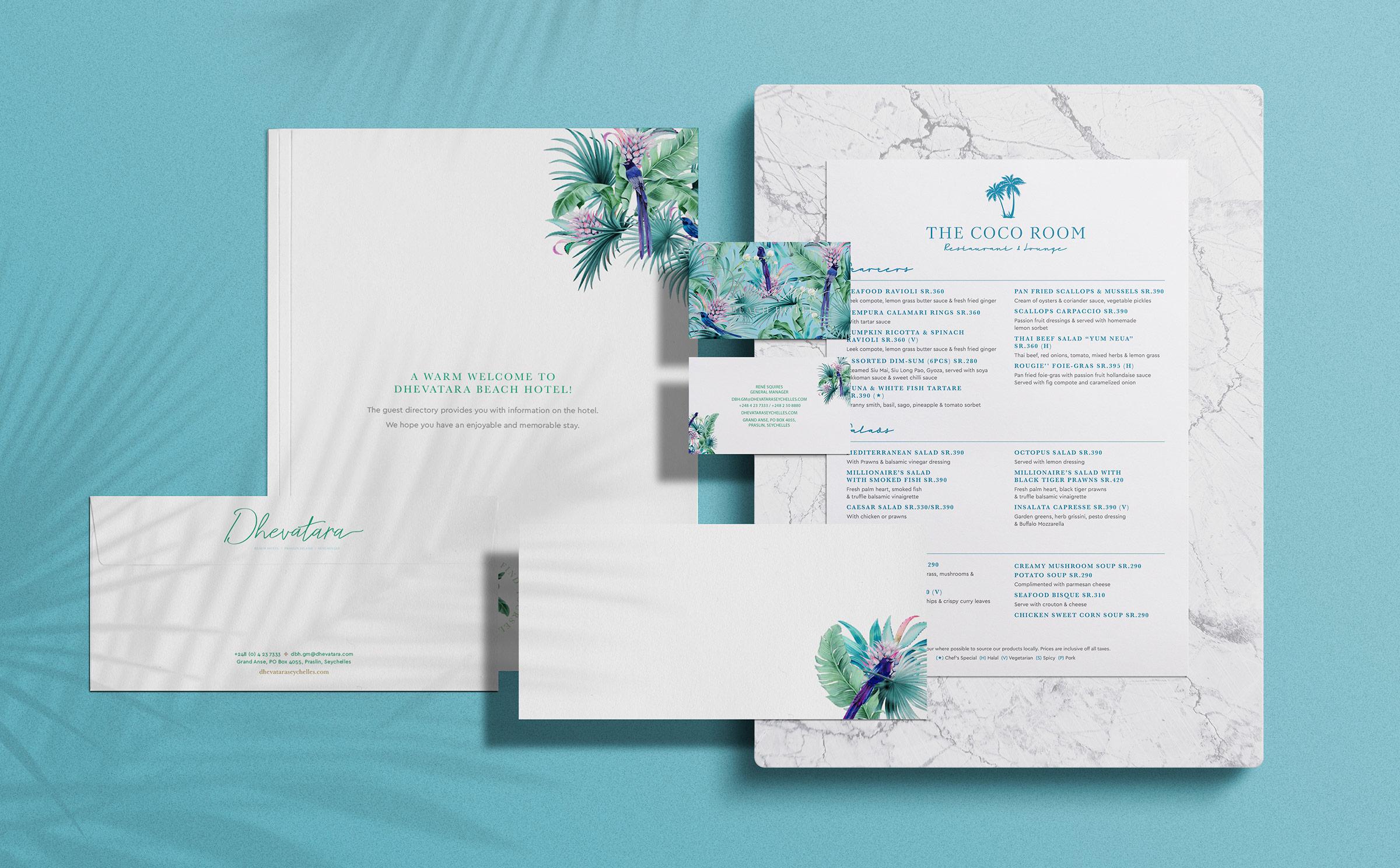 Dhevatara-Beach-Hotel-Stationery-Design