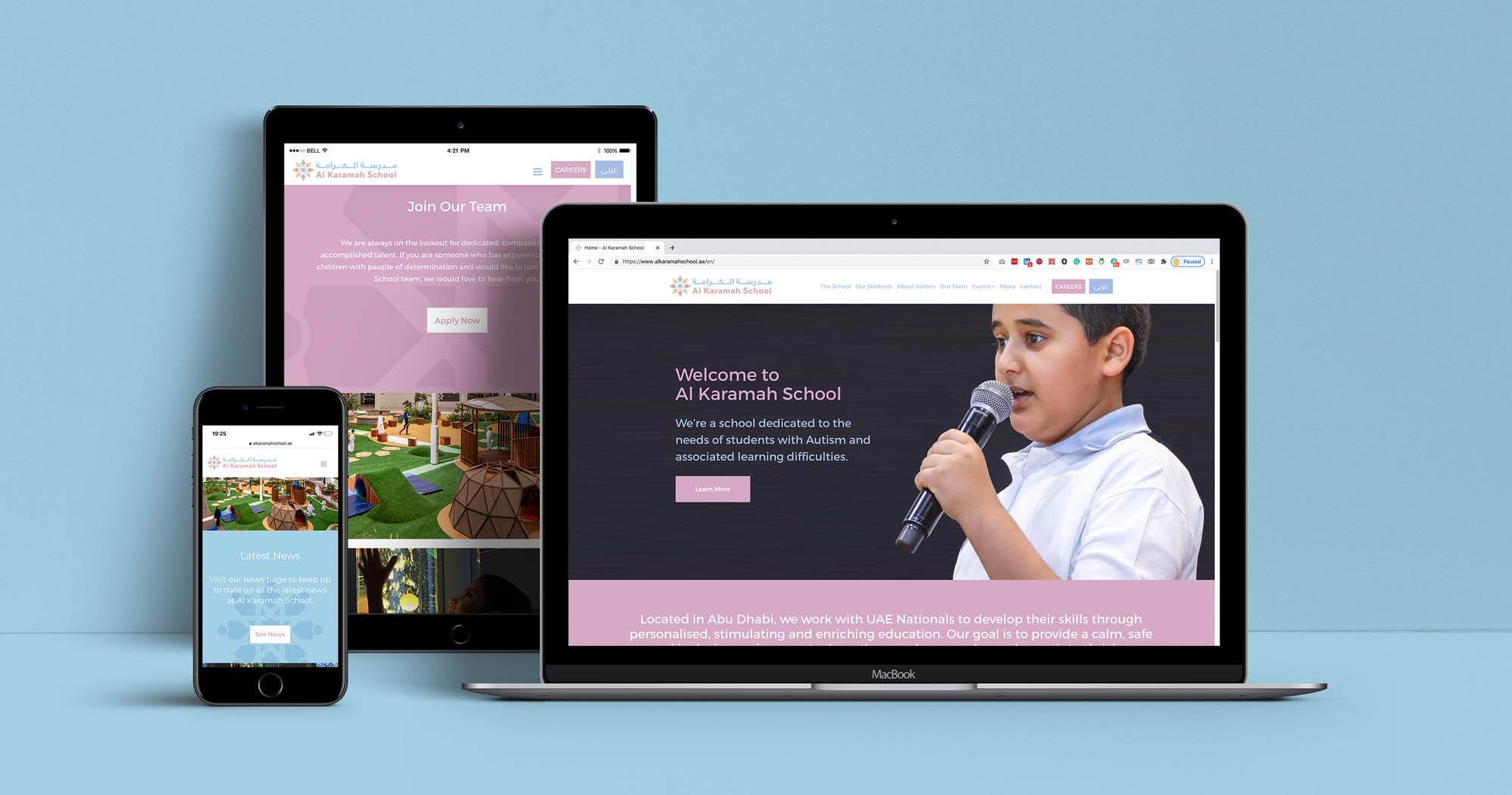 al-karamah-school-abu-dhabi-website-design