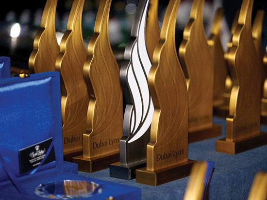 Dubai Lynx award trophies