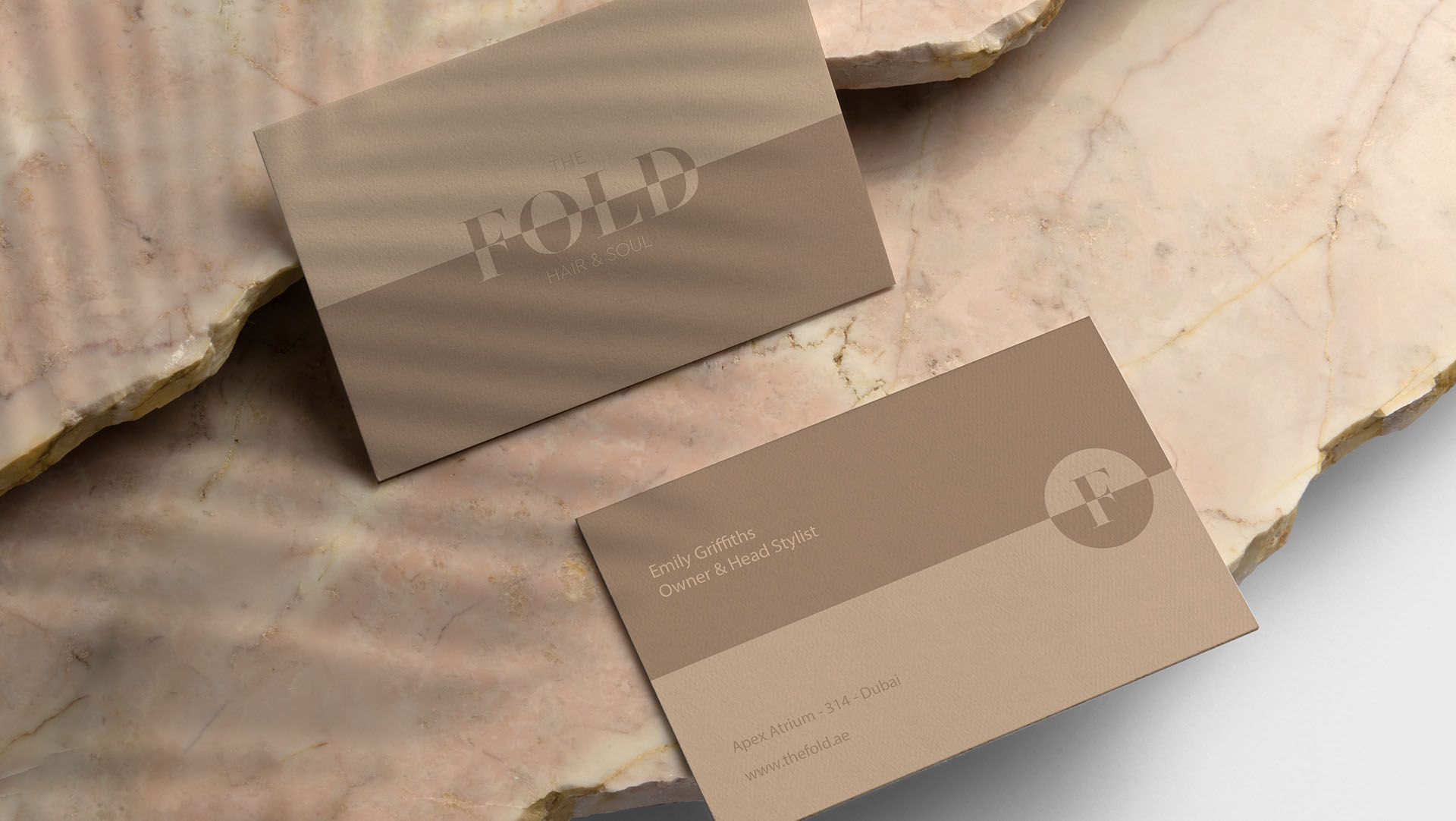 The Fold salon branding