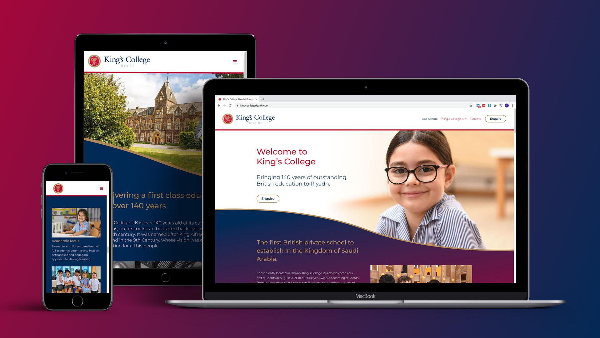 King's College Riyadh website