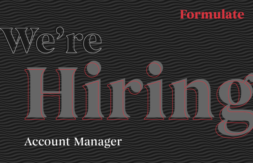 We're recruiting: Account Manager
