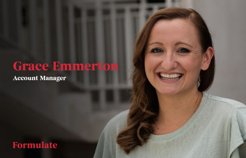 Formulate welcomes Grace Emmerton to the account management team
