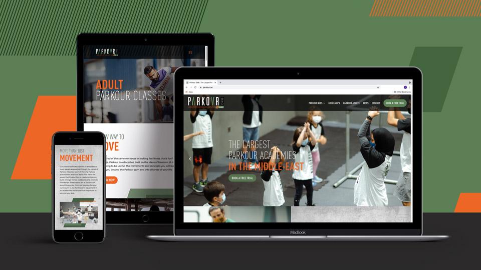 Parkour DXB Website Design